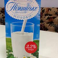 Молоко Нежинское 3,2 %, тетрапак, 1 л