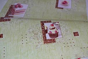 Обои, обои на стену, бумажные влагостойкие, торт, бисквит, капкейк, B56,4 Бисквит 8036-04Х, 0,53*10м, фото 2