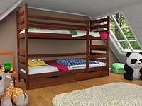 Кровать двухъярусная трансформер Твейс 2-й сорт массив дерева усиленная модель
