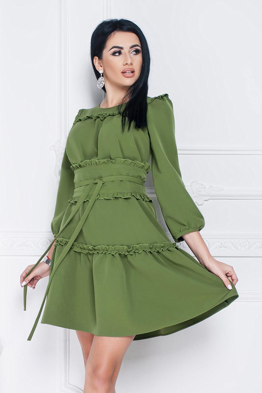 Платье Джульетта в цвете хаки