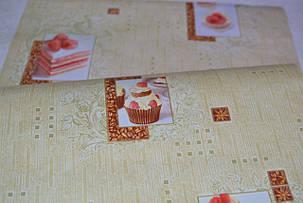 Обои, обои на стену, бумажные влагостойкие, торт, бисквит, капкейк, B56,4 Бисквит 8036-05Х, 0,53*10м, фото 2