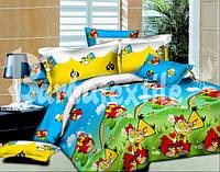 Дитяча постільна білизна полуторна  Angry Birds
