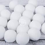 Помпоны  белого цвета  30 мм (Польша), фото 2