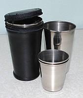 Набор стаканов в кожаном чехле