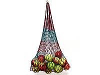 Авоська - полосатая - вишнево-бирбзовый, фото 1
