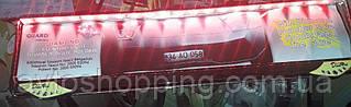 Рамка под номер с подсветкой Красной, Guard Diamond, Рамка ХРОМ LED, Подсветка номера