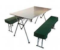 Набор мебели: стол алюминиевый со скамейками Tramp TRF-018