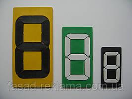Изготовление сегмент-цифр для пунктов обмена валюты 9см*4,5см