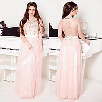 """Вечернее длинное розовое платье на выпускной """"Фортуна"""", фото 1"""