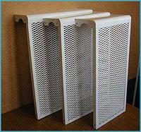 Декоративный экран радиаторный на 4 секции