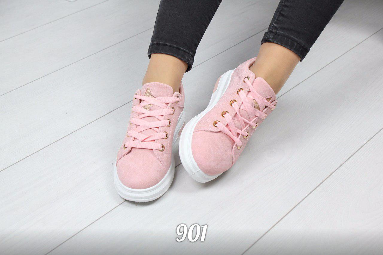 457f942cfd8d Женские розовые кеды на шнурках