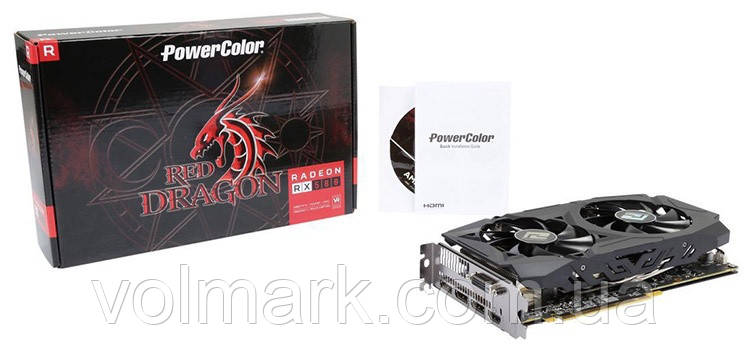 Видеокарта PowerColor AMD Radeon RX 580 Red Dragon V2, 8GB GDDR5