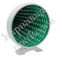 Бесконечное зеркало Infinity Mirror Круг (зеленое свечение)