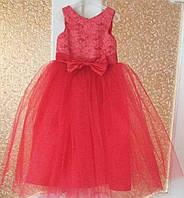 Платье бальное детское красное на выпускной