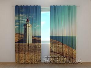 """Фото шторы """"Маяк на побережье Дании"""" 250 х 260 см"""