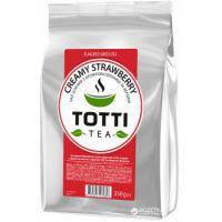 Чай зеленый TOTTI Tea Сливочная Клубника листовой 250 г