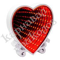 Бесконечное зеркало Infinity Mirror Сердце (красный), фото 1