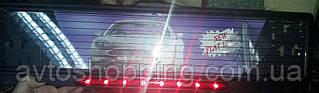 Рамка под номер с повторителем стопов, Guard 121, Рамка ХРОМ с подсветкой под стеклом