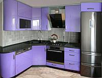 Кухня с крашеными глянцевыми фасадами №4