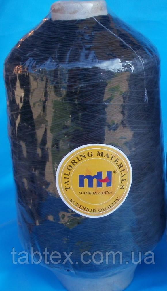 Нитка резинка № 37 черная 500гр Китай