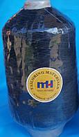 Нитка резинка № 37 черная  400гр Китай