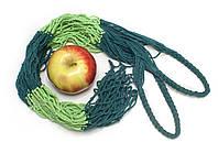 Авоська - полосатая - зеленый микс-2