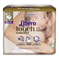 Подгузники Libero Touch Размер 0 (0-2.5 кг), 24 шт  ТМ: Libero