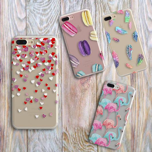 Дизайнерский силиконовый чехол фламинго для iPhone 5/5s/se