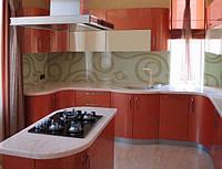 Кухня с крашеными глянцевыми фасадами №6