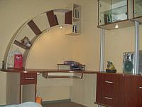 Книжные полки гнутые, компьютерный стол, шкаф купе, кровать., фото 1