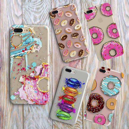 Дизайнерский силиконовый чехол пончики для iPhone 5/5s/se