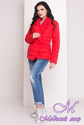 """Женская красная куртка весна-осень (р. XS, S, M, L) арт. Мириам """"4483"""" - 21436, фото 2"""