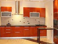 Кухня с крашеными глянцевыми фасадами №7