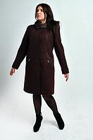 Пальто женское кашемировое Л-568 бардо, фото 1