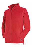 Спортивна флісова кофта червоного кольору, фото 1