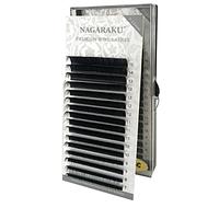 Черные ресницы Nagaraku 0,1 D (7-15) (16 линий)