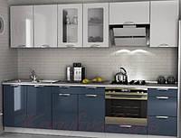Кухня с крашеными глянцевыми фасадами №8