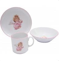 Набор детской фарфоровой посуды Honey Angel 3 пр Cmielow 6503T06E2G056