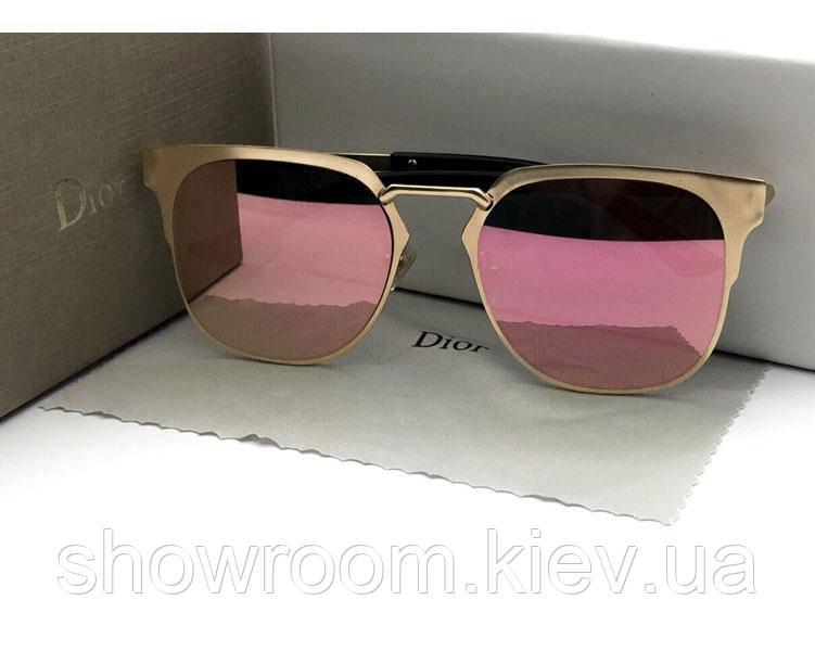 Женские солнцезащитные очки с розовым напылением (15128)