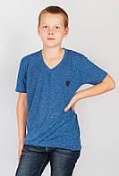 Футболка мужская модная  286F011-1 junior (Синий букле)