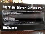 "Сенсорное Зеркало Видеорегистратор L505C с камерой заднего вида   full hd 4,3"" , фото 6"