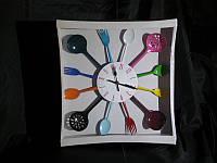 Часы Столовые Приборы Микс