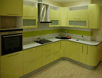 Кухня с крашеными глянцевыми фасадами №10