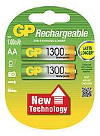Аккумуляторы GP Batteries Rechargeable 1300 Series 130AAHC AA HR6 Ni-MH 1300mAh 1.2V 2шт Double Blister
