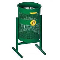 Урна для мусора Эконом, зеленая, объем 37 л.