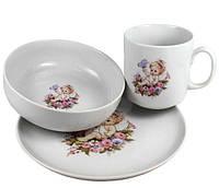 Набор детской фарфоровой посуды Summer Day 3 пр Cmielow 6503T06E2B271