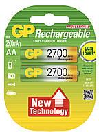 Аккумуляторы GP Batteries Rechargeable 2700 Series 270AAHC AA HR6 Ni-MH 2600mAh 1.2V 2шт Double Blister