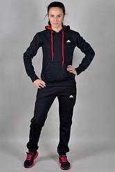Женский спортивный костюм Adidas черного цвета