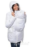 Зимняя куртка для беременных и слингоношения 4в1, белая, фото 1