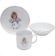 Набор детской фарфоровой посуды Angel 3 пр Cmielow 6503T06E2B220